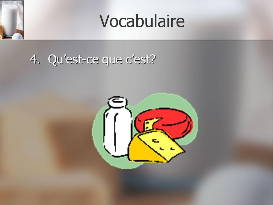 Vocabulaire 4. Qu'est-ce que c'est
