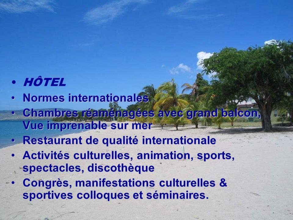 HÔTEL Normes internationales. Chambres réaménagées avec grand balcon, Vue imprenable sur mer. Restaurant de qualité internationale.