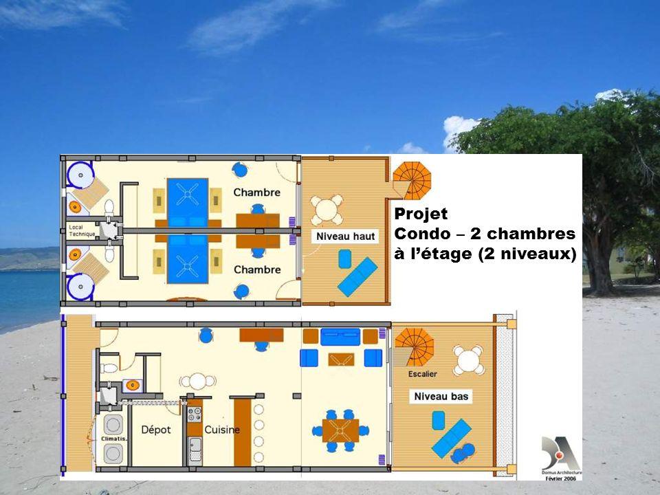Projet Condo – 2 chambres à l'étage (2 niveaux)