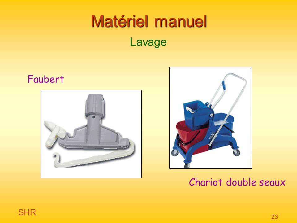 Matériel manuel Lavage Faubert Chariot double seaux