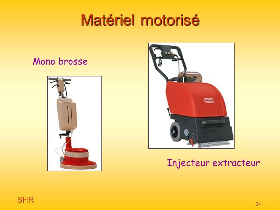 Matériel motorisé Mono brosse Injecteur extracteur
