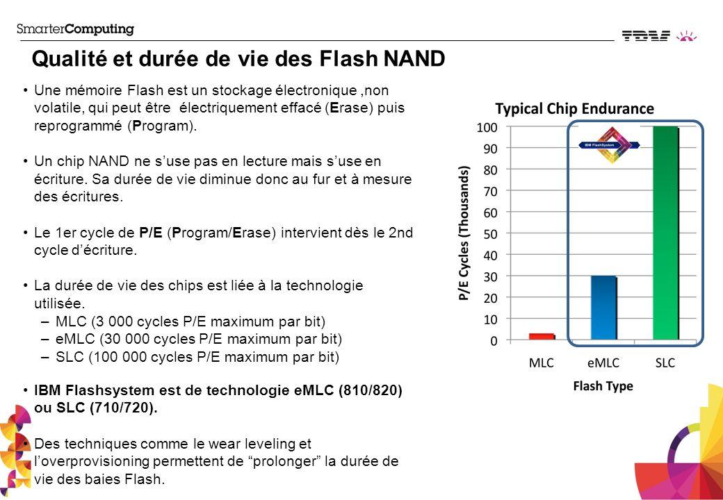 Qualité et durée de vie des Flash NAND