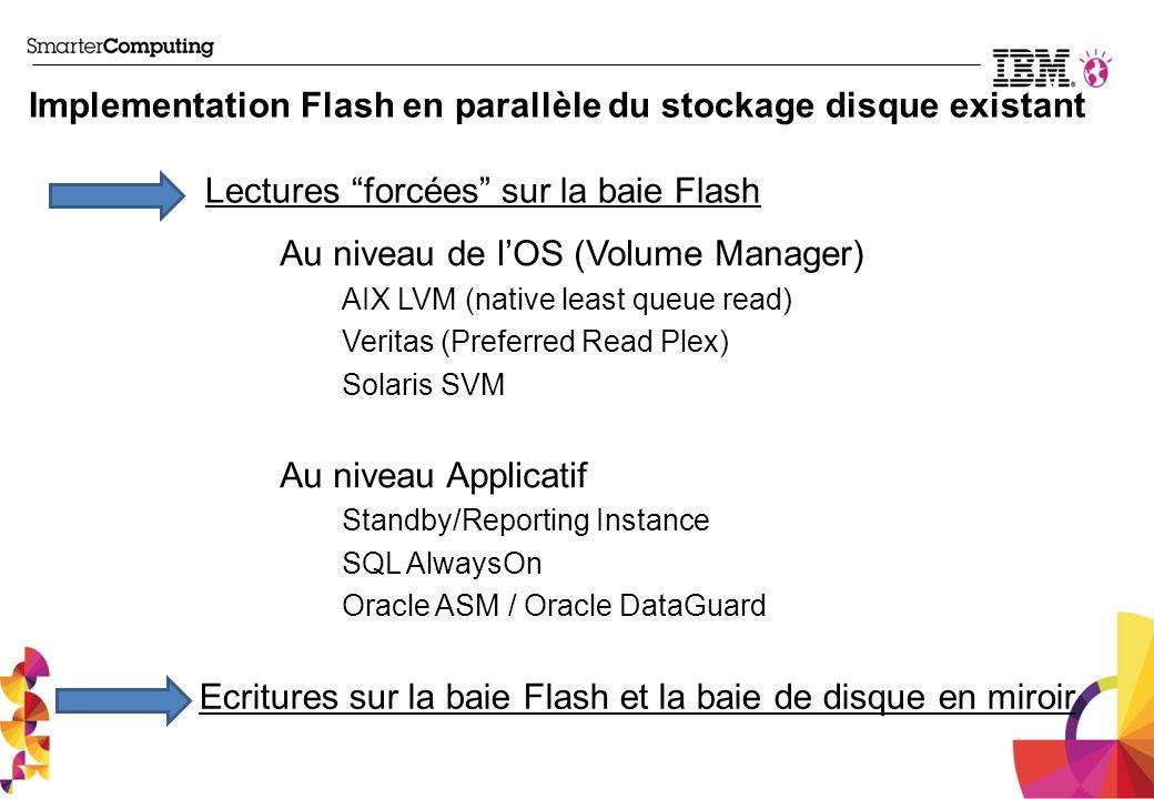 Implementation Flash en parallèle du stockage disque existant