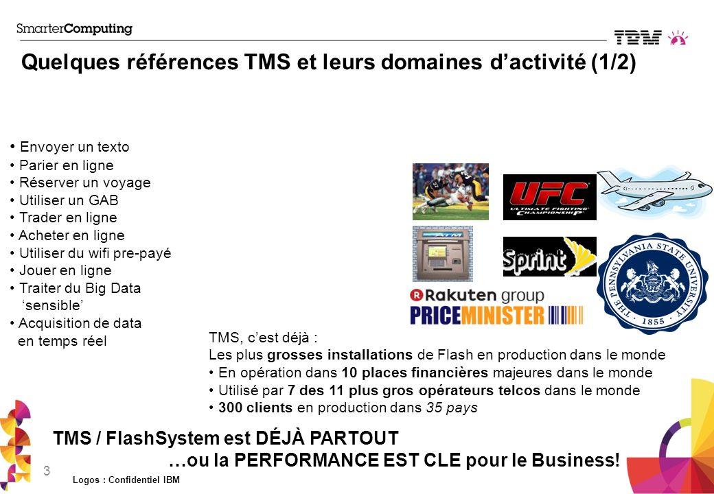 Quelques références TMS et leurs domaines d'activité (1/2)