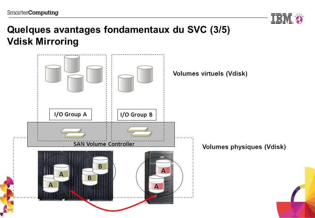Quelques avantages fondamentaux du SVC (3/5) Vdisk Mirroring