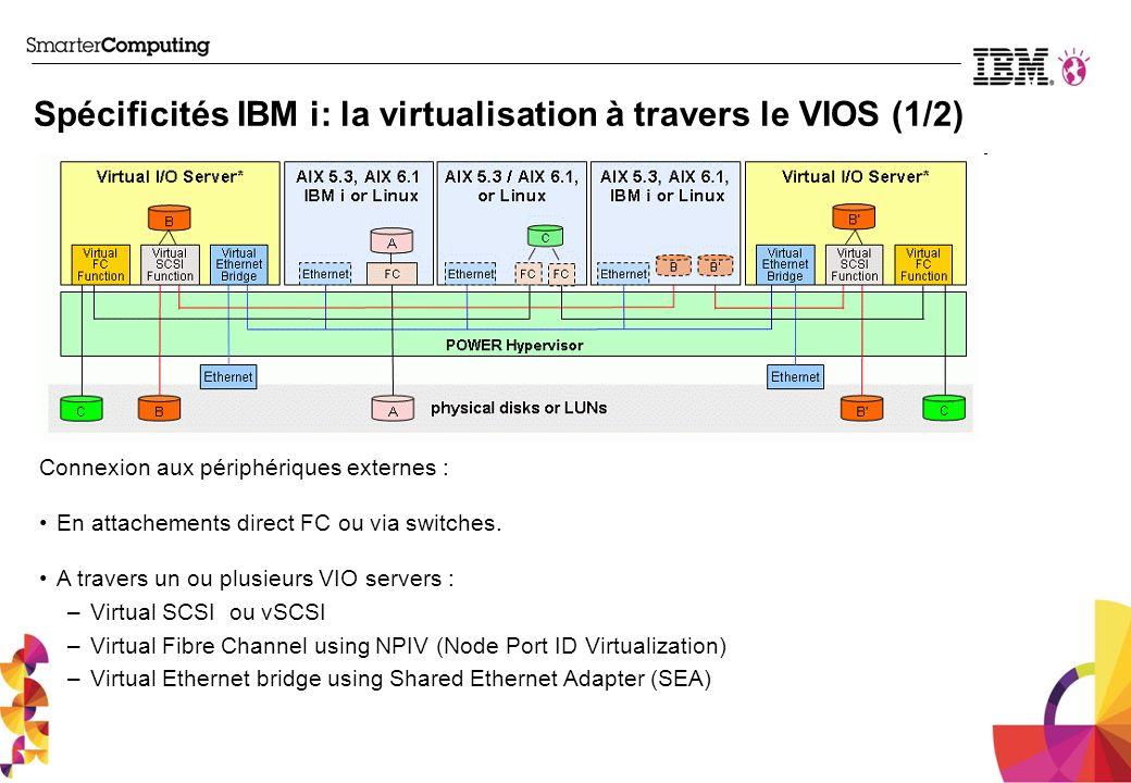 Spécificités IBM i: la virtualisation à travers le VIOS (1/2)