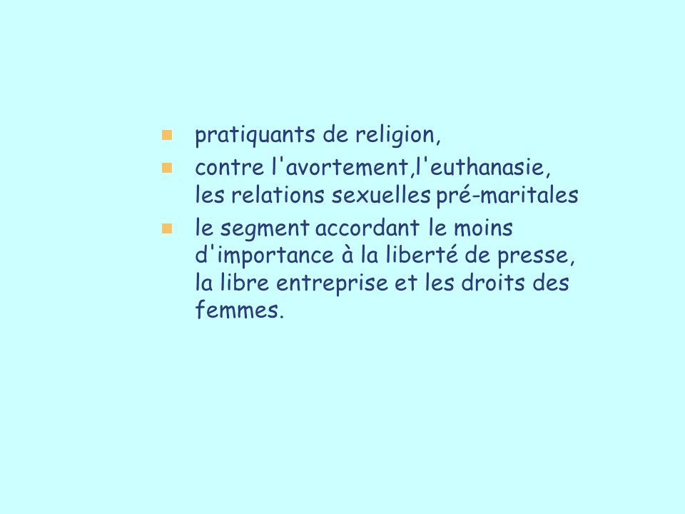 pratiquants de religion,