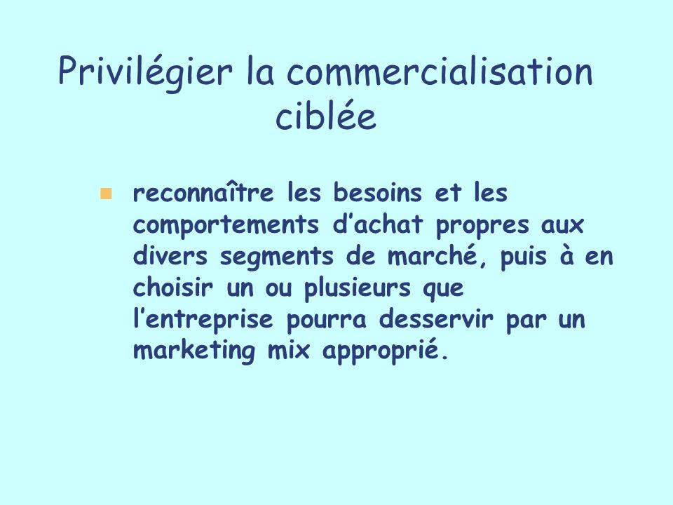 Privilégier la commercialisation ciblée