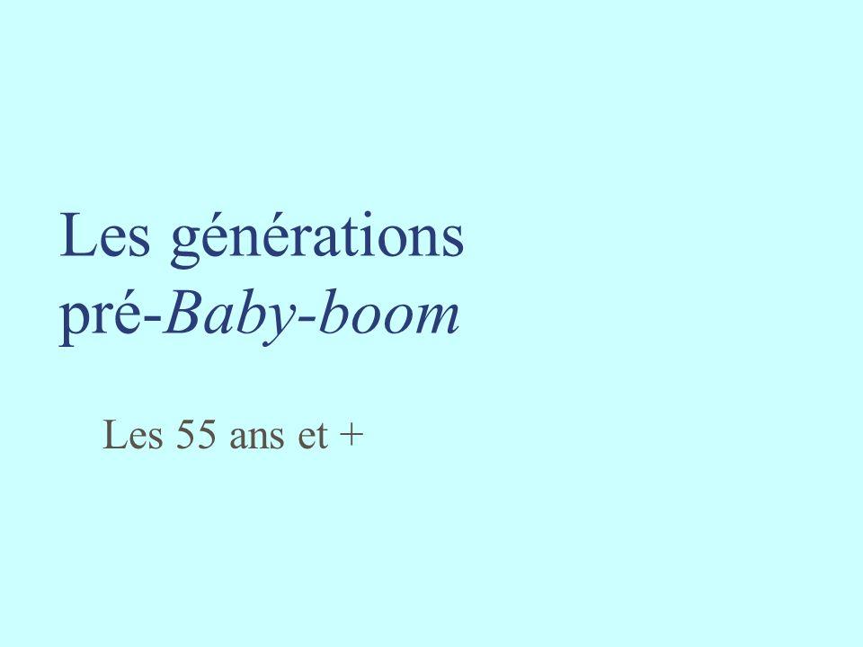 Les générations pré-Baby-boom