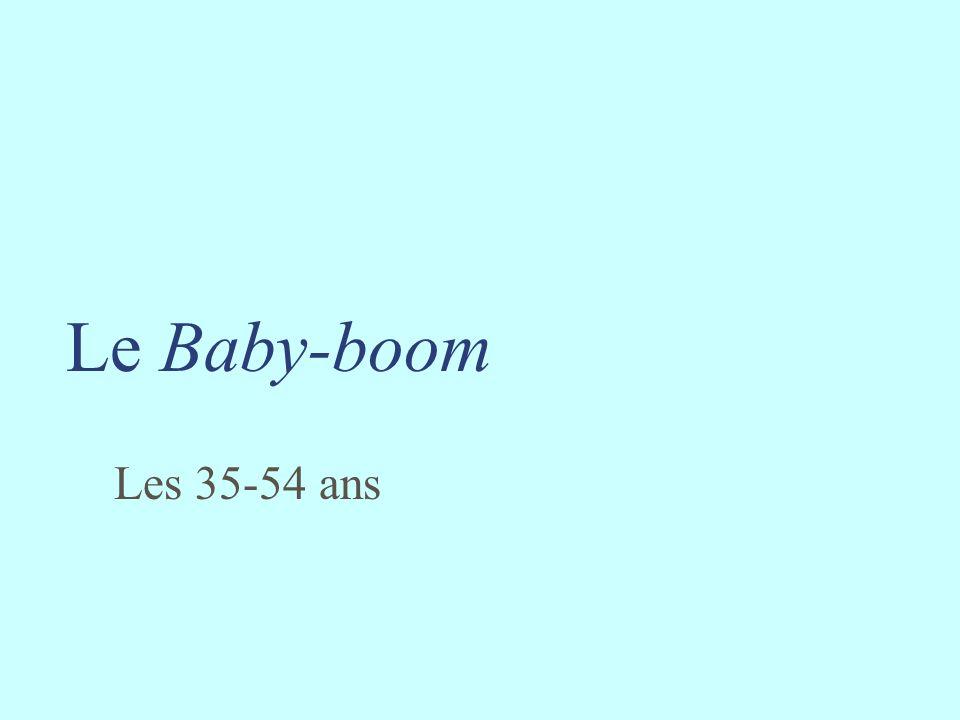 Le Baby-boom Les 35-54 ans