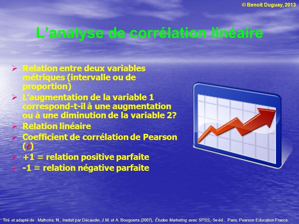 L'analyse de corrélation linéaire