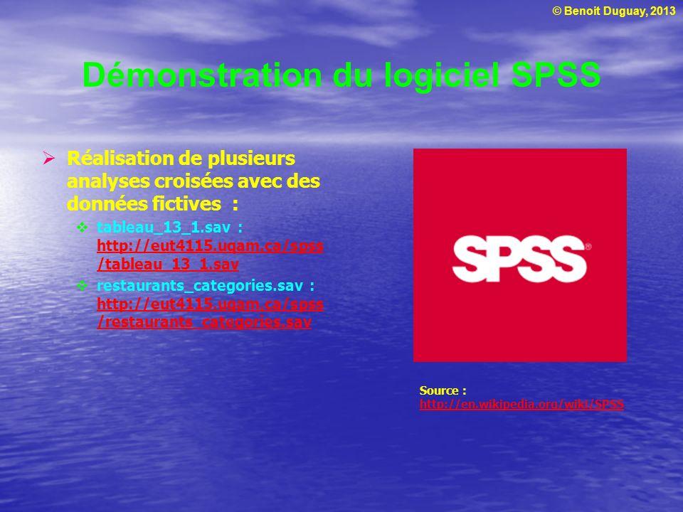 Démonstration du logiciel SPSS