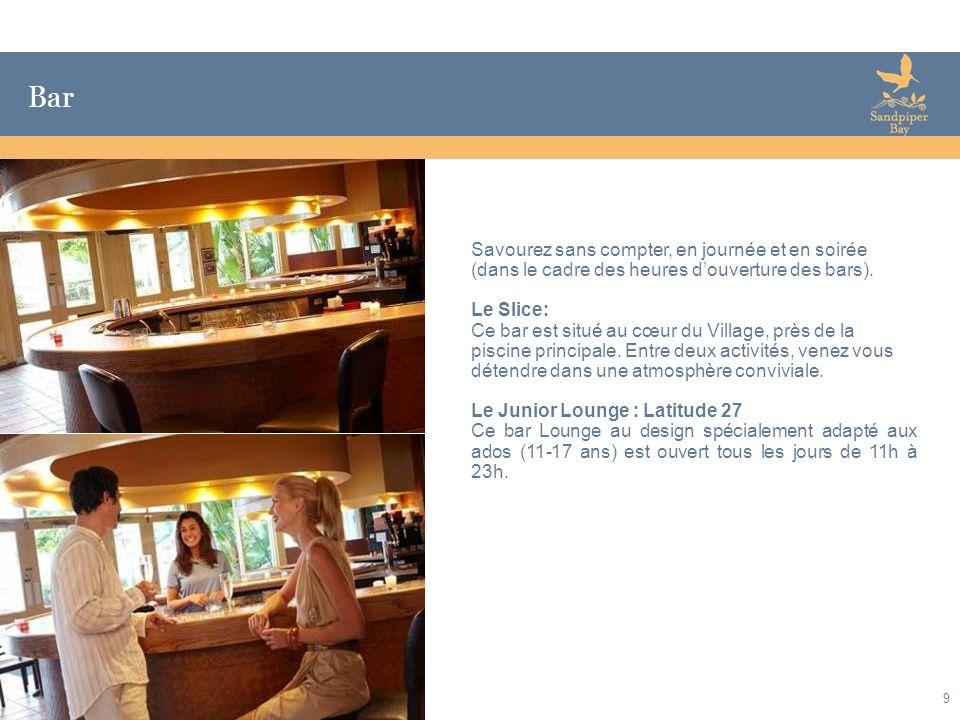 Bar Savourez sans compter, en journée et en soirée (dans le cadre des heures d'ouverture des bars).