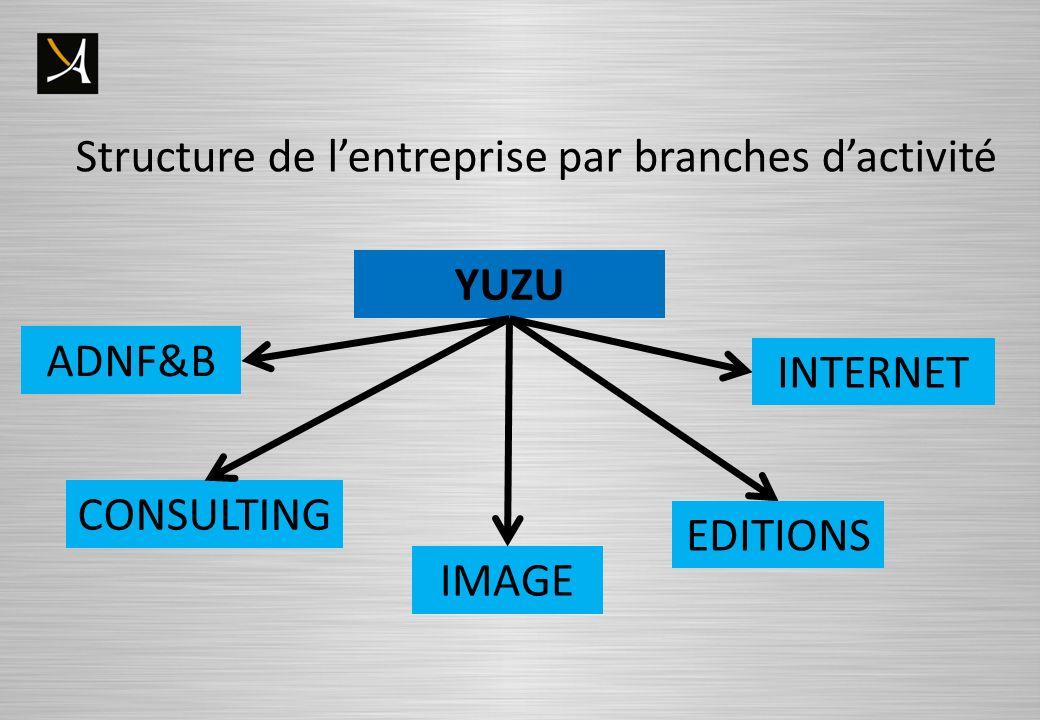 Structure de l'entreprise par branches d'activité