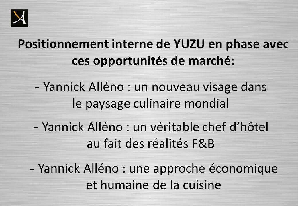 - Yannick Alléno : un nouveau visage dans le paysage culinaire mondial