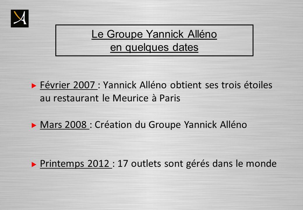 Le Groupe Yannick Alléno en quelques dates