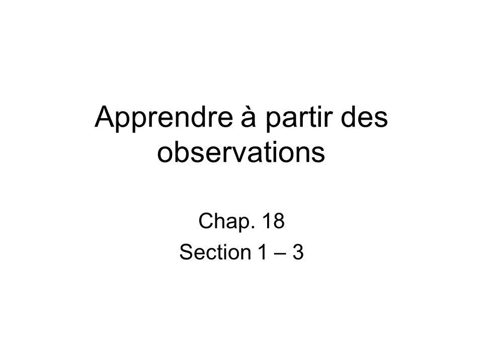 Apprendre à partir des observations