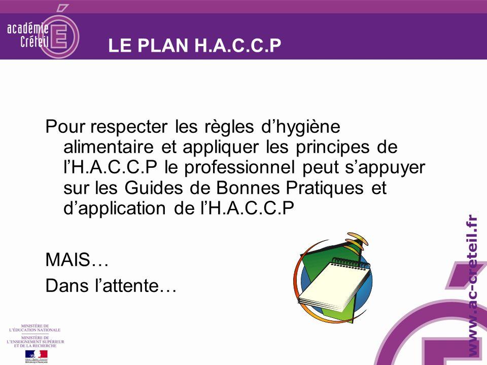 LE PLAN H.A.C.C.P