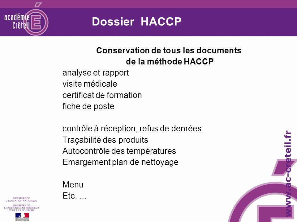 Conservation de tous les documents