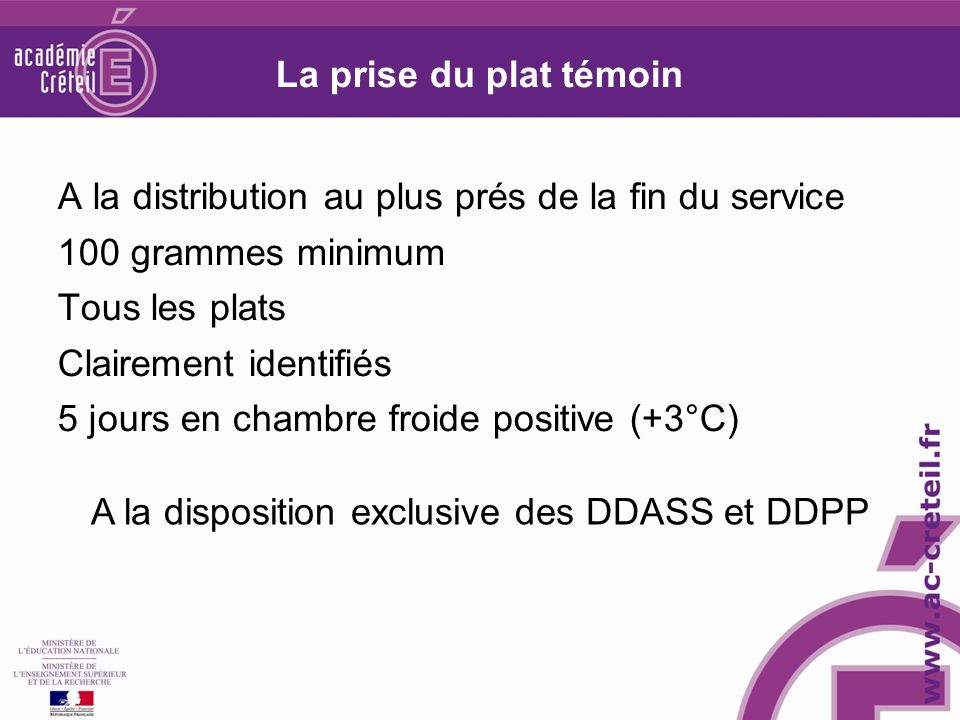 A la disposition exclusive des DDASS et DDPP
