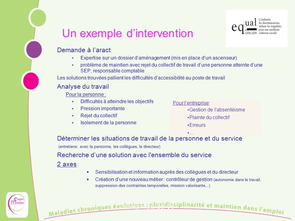 Un exemple d'intervention