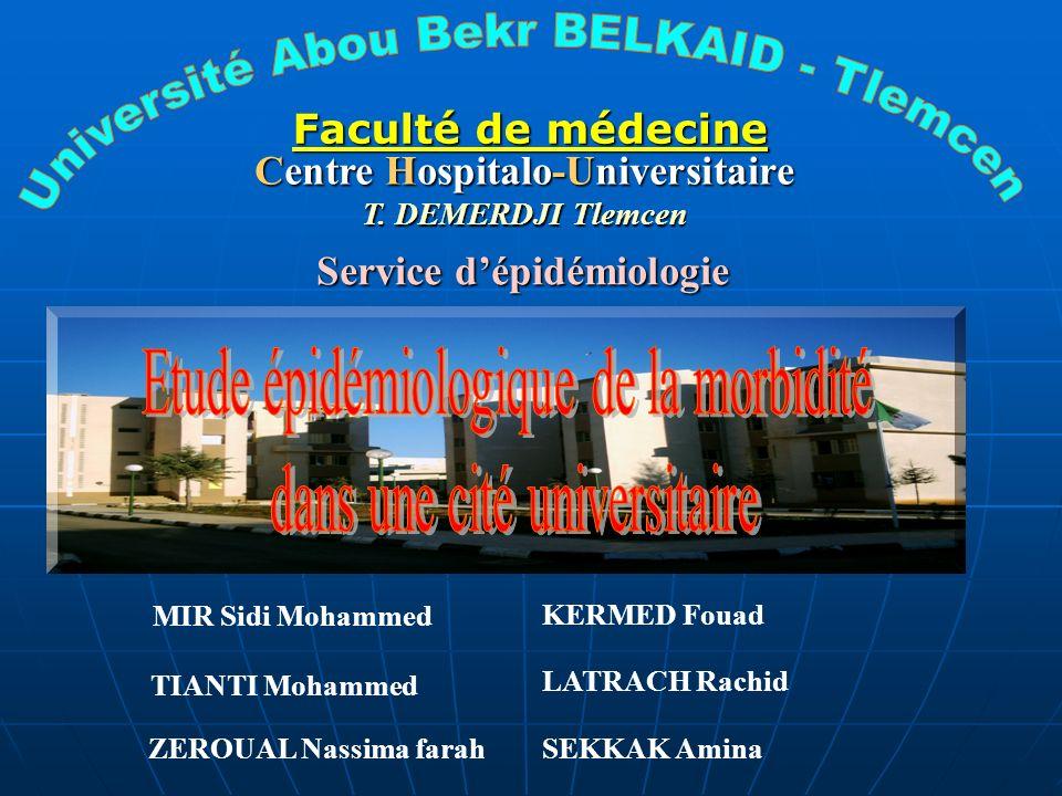 Centre Hospitalo-Universitaire Service d'épidémiologie