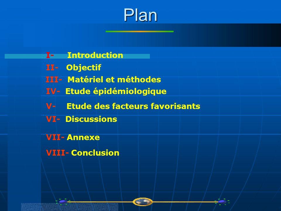 Plan I- Introduction II- Objectif III- Matériel et méthodes