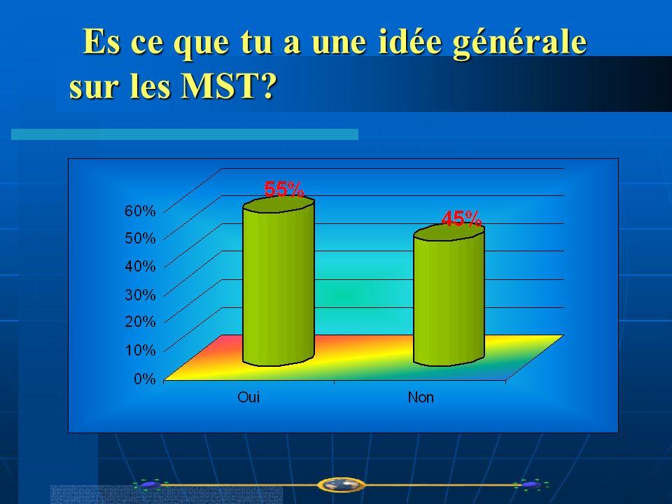 Es ce que tu a une idée générale sur les MST
