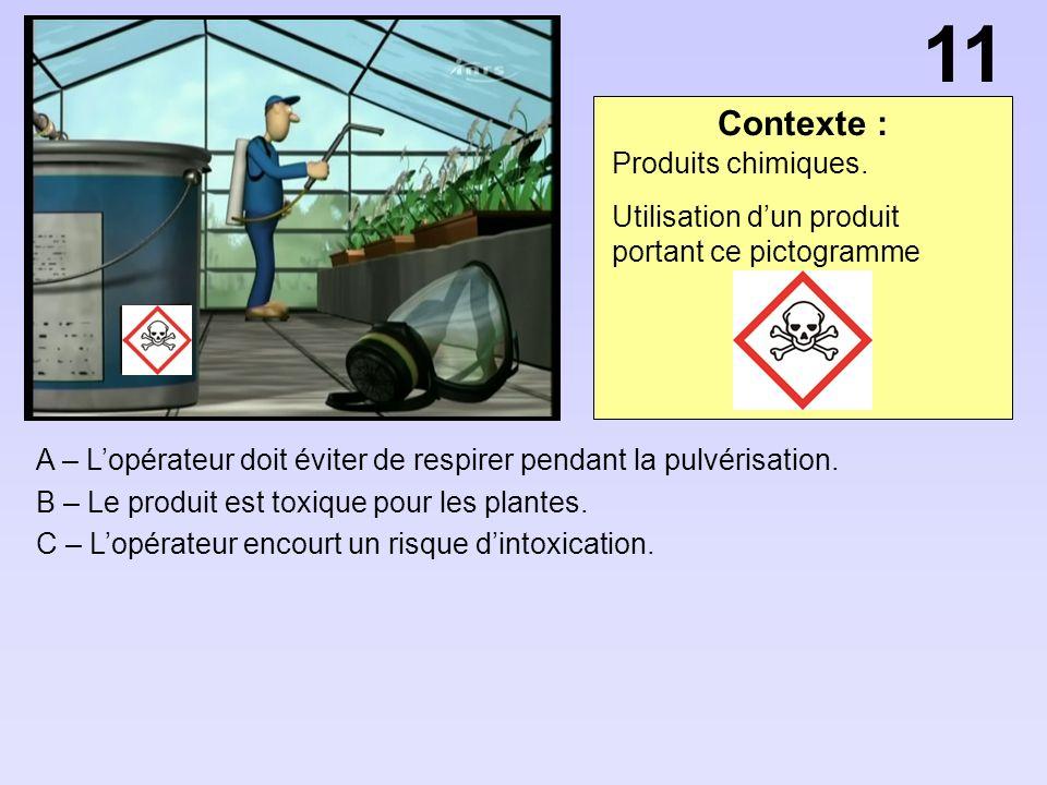 11 Contexte : Produits chimiques.