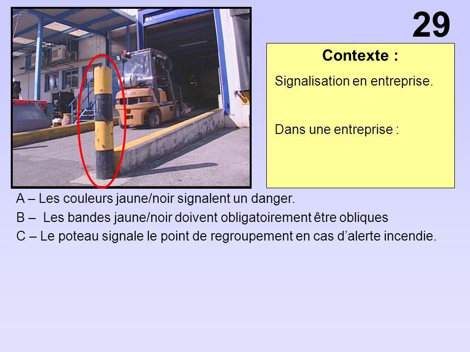 29 Contexte : Signalisation en entreprise. Dans une entreprise :