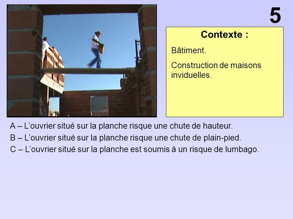 5 Contexte : Bâtiment. Construction de maisons inviduelles.