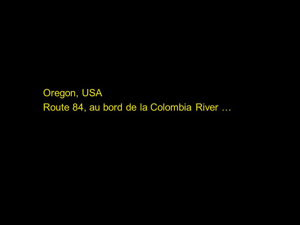 Oregon, USA Route 84, au bord de la Colombia River …