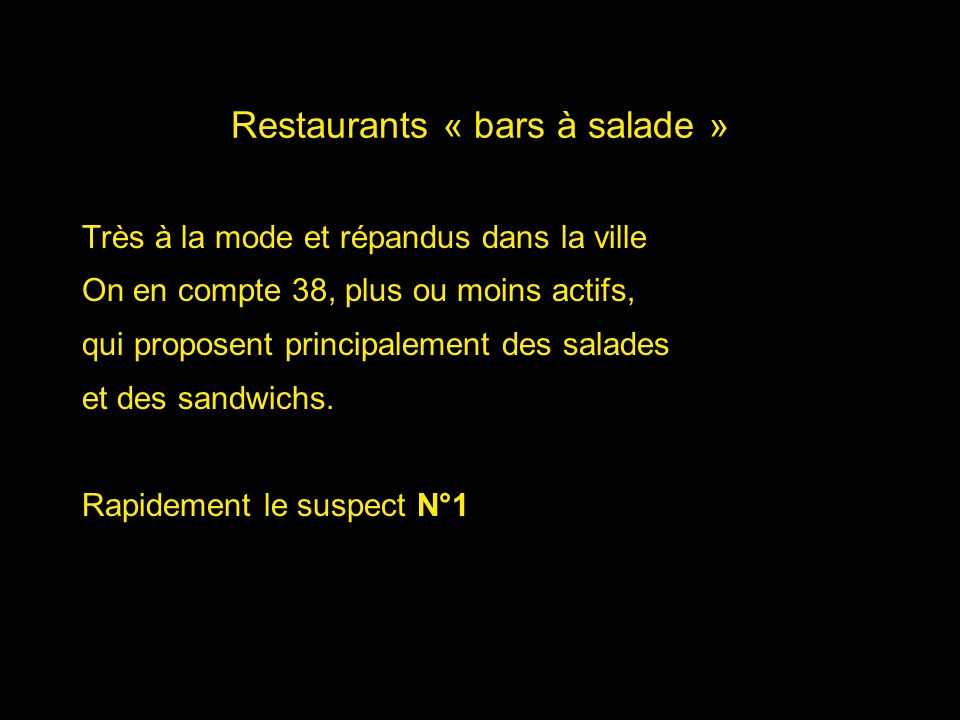 Restaurants « bars à salade »