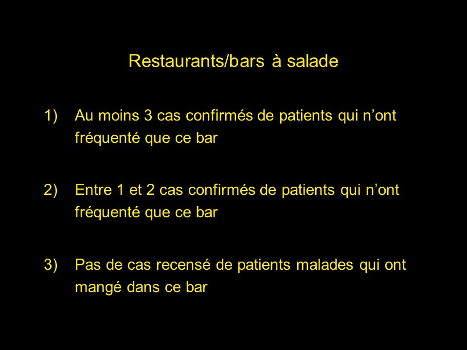 Restaurants/bars à salade