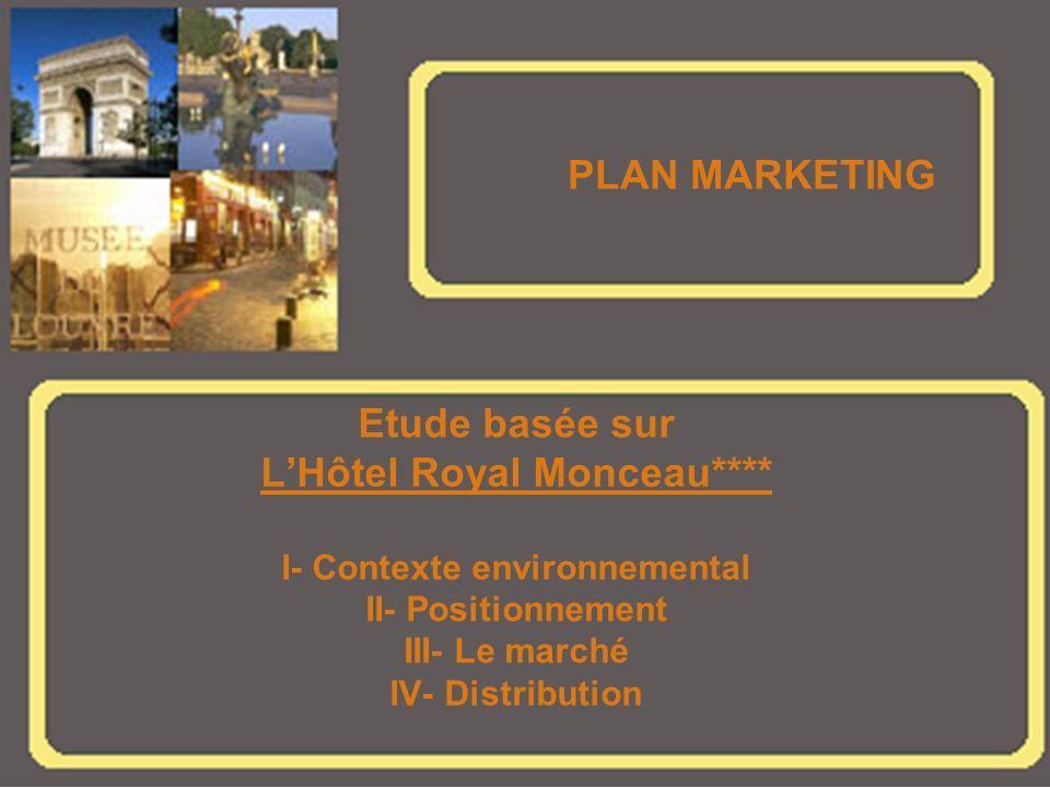L'Hôtel Royal Monceau**** I- Contexte environnemental