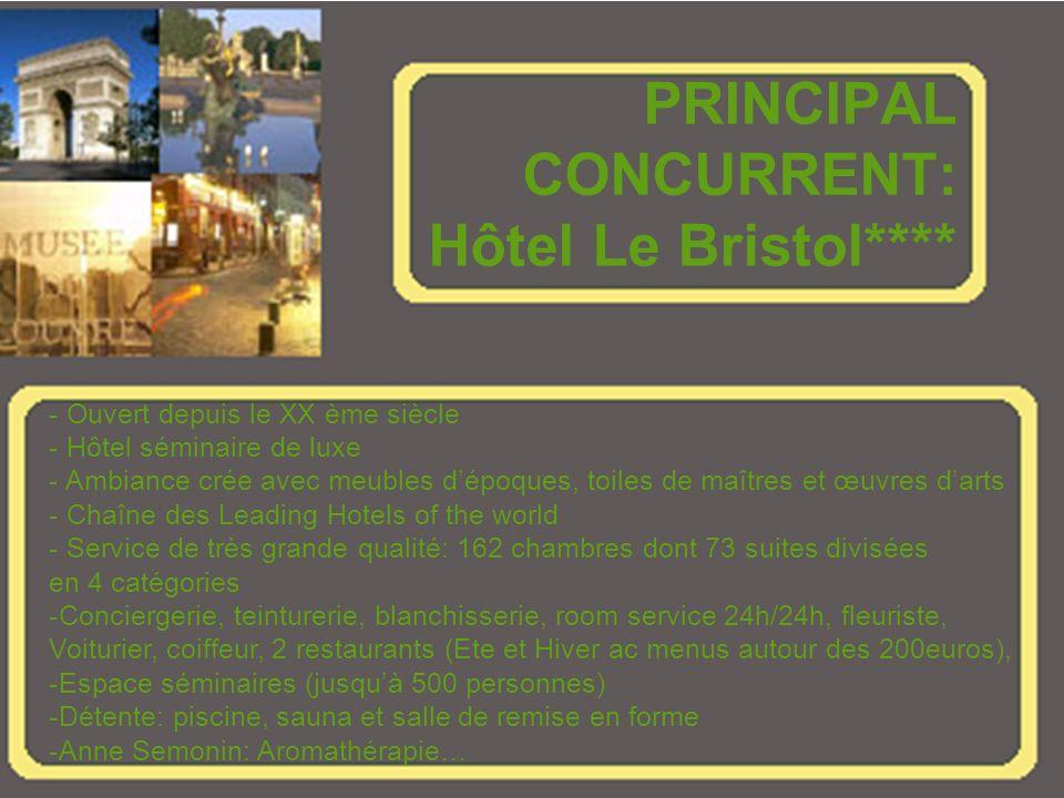 PRINCIPAL CONCURRENT: Hôtel Le Bristol****