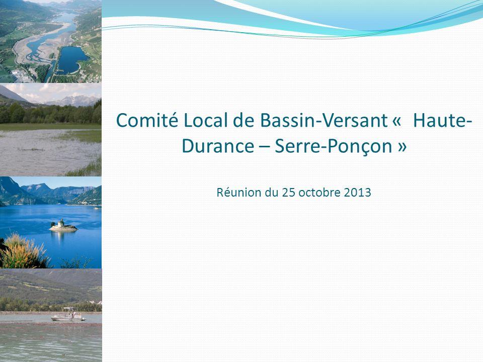 Comité Local de Bassin-Versant « Haute-Durance – Serre-Ponçon » Réunion du 25 octobre 2013