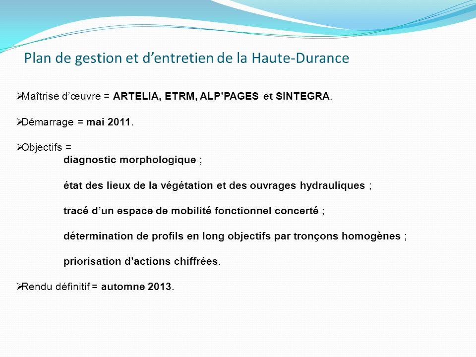 Plan de gestion et d'entretien de la Haute-Durance