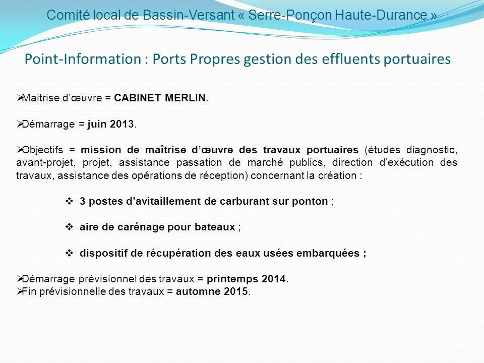Point-Information : Ports Propres gestion des effluents portuaires