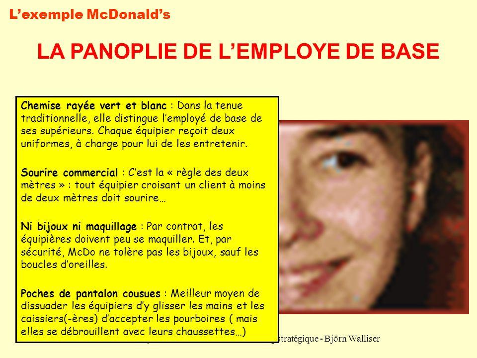 LA PANOPLIE DE L'EMPLOYE DE BASE