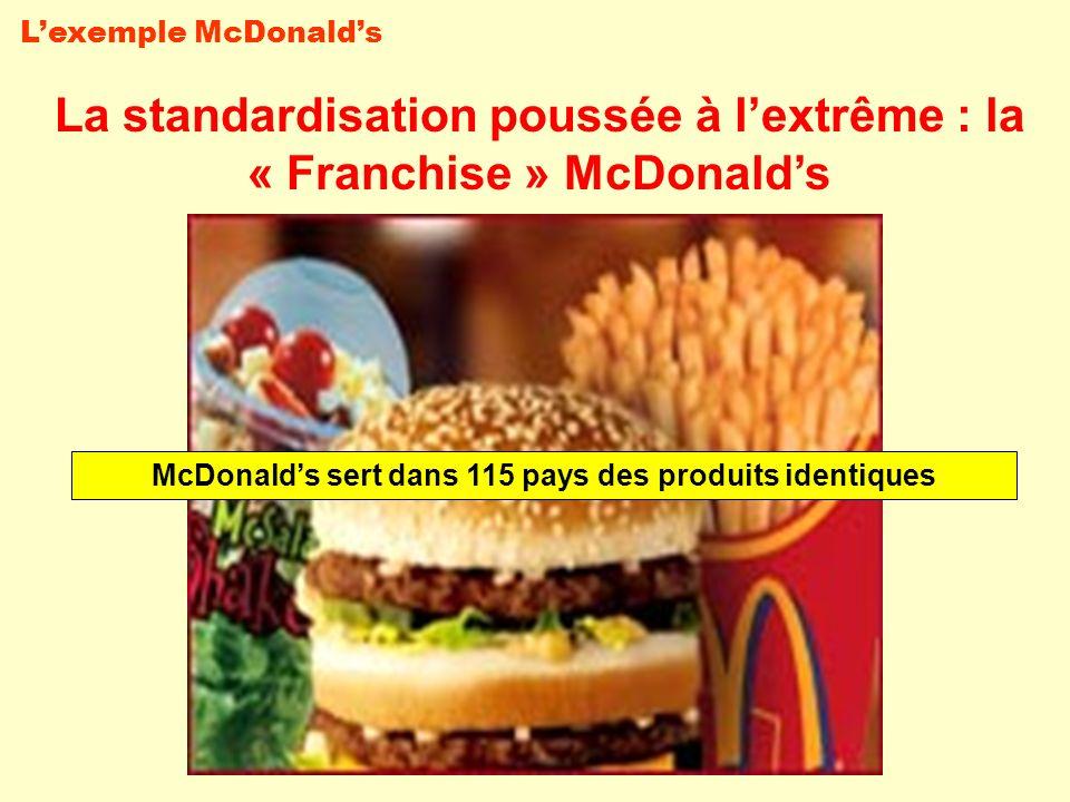 La standardisation poussée à l'extrême : la « Franchise » McDonald's