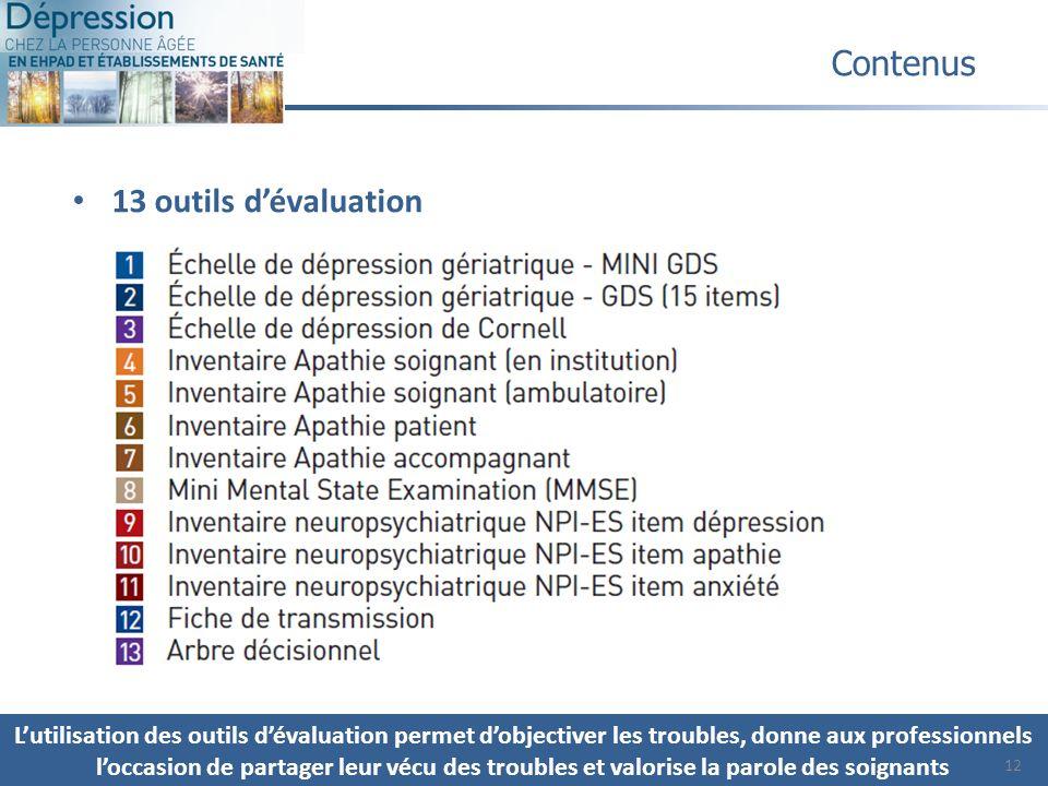 Contenus 13 outils d'évaluation