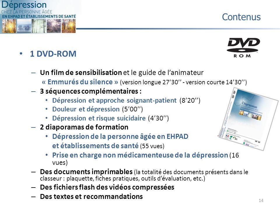 Contenus 1 DVD-ROM. Un film de sensibilisation et le guide de l'animateur. « Emmurés du silence » (version longue 27'30'' - version courte 14'30'')