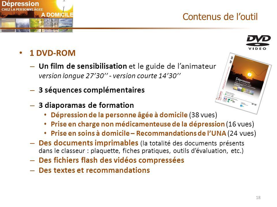 Contenus de l'outil 1 DVD-ROM