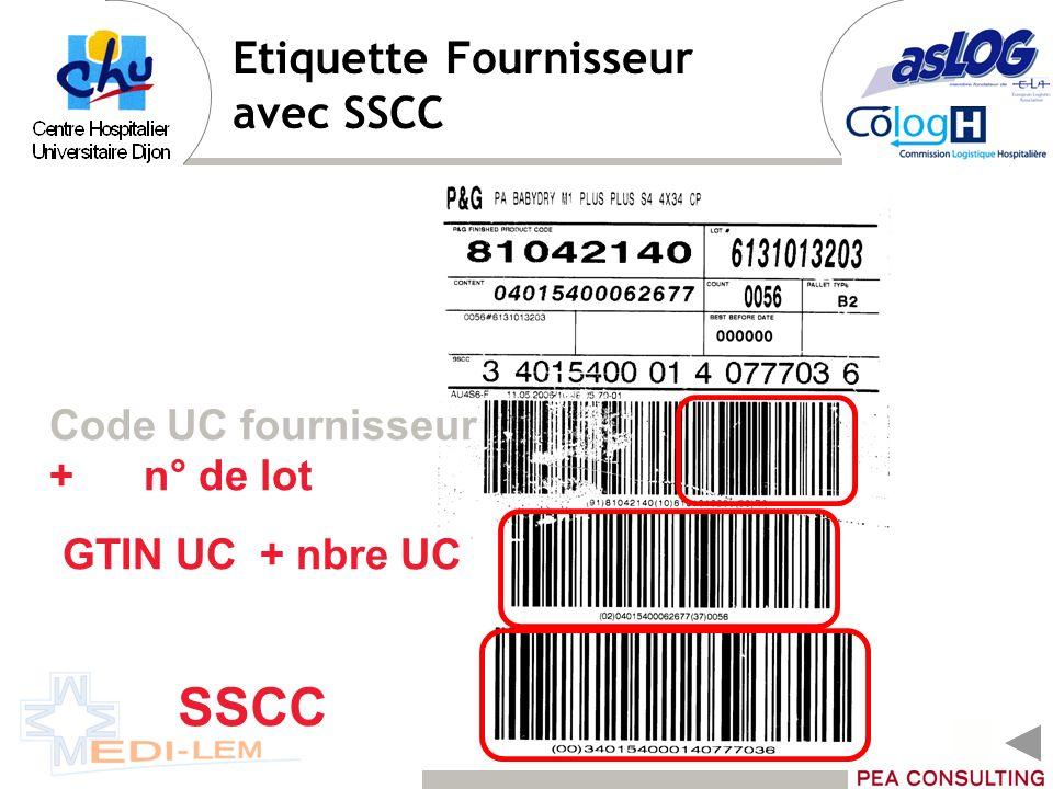 Etiquette Fournisseur avec SSCC