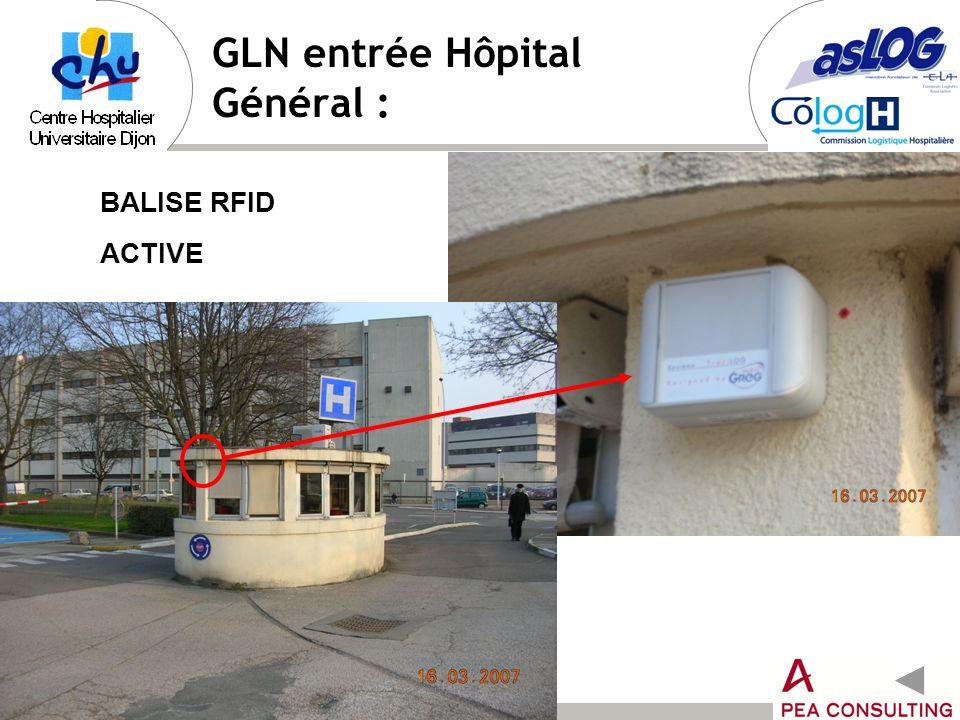 GLN entrée Hôpital Général :