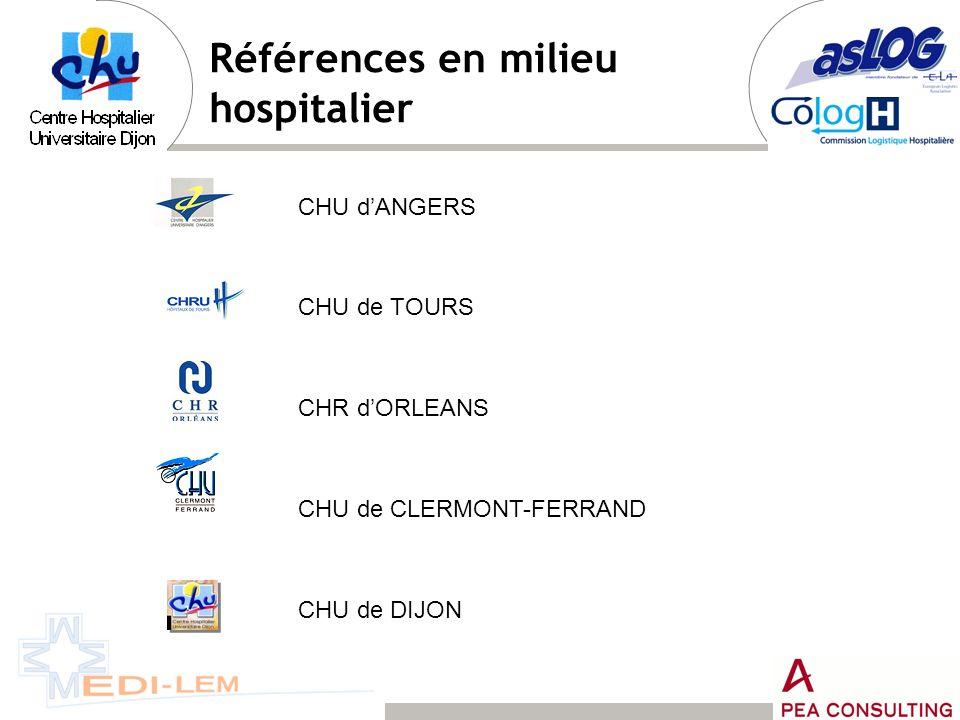 Références en milieu hospitalier
