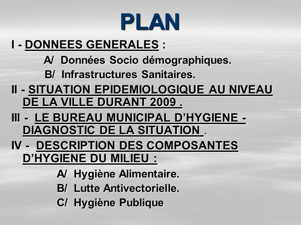 PLAN I - DONNEES GENERALES : A/ Données Socio démographiques.