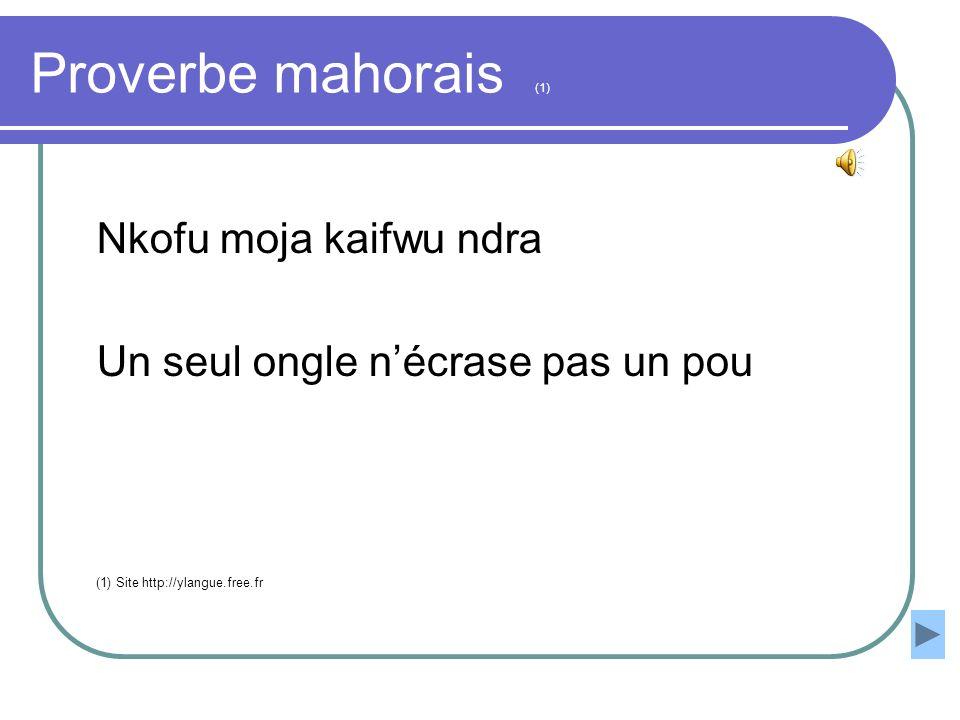 Proverbe mahorais (1) Nkofu moja kaifwu ndra