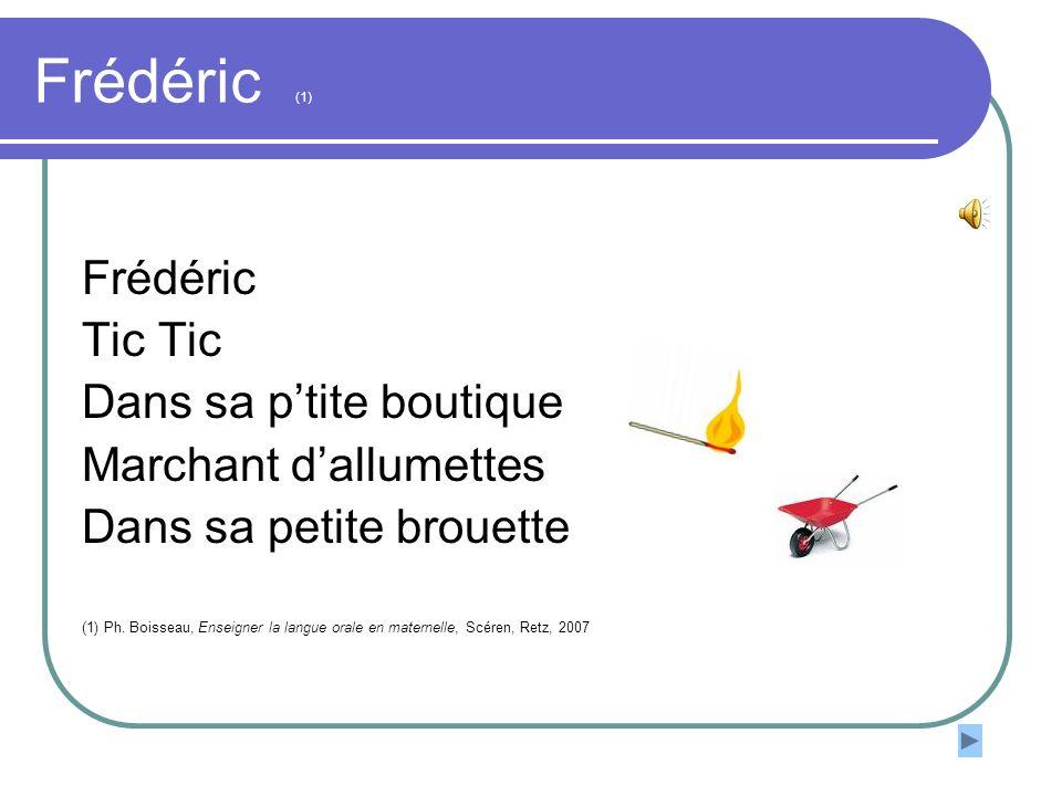 Frédéric (1) Frédéric Tic Tic Dans sa p'tite boutique